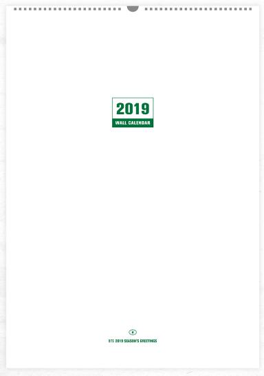 bts 2019 wall calendar 12 28 金 発売決定 予約販売は11 23 金