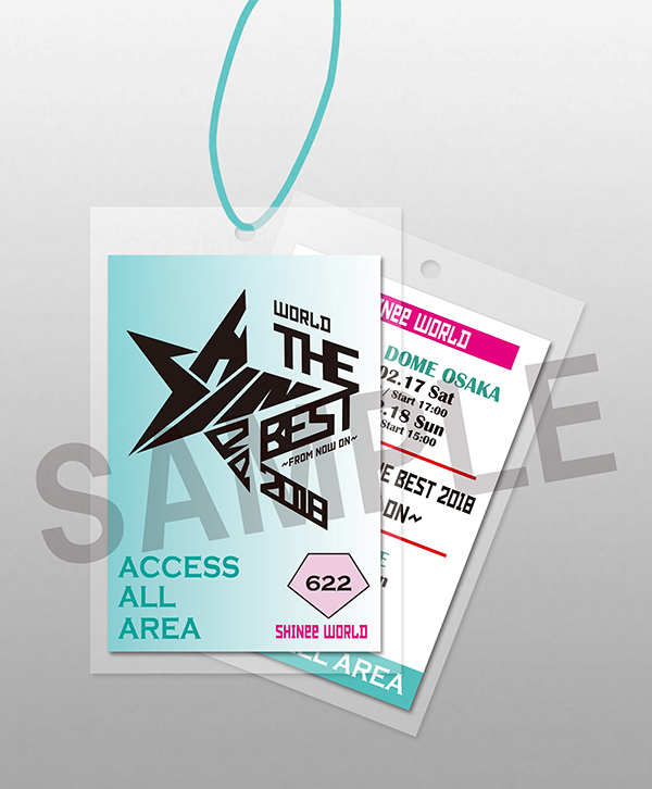 「SHINee WORLD THE BEST 2018~FROM NOW ON~ in TOKYO DOME」ツアーPASS (ラミネート仕様)