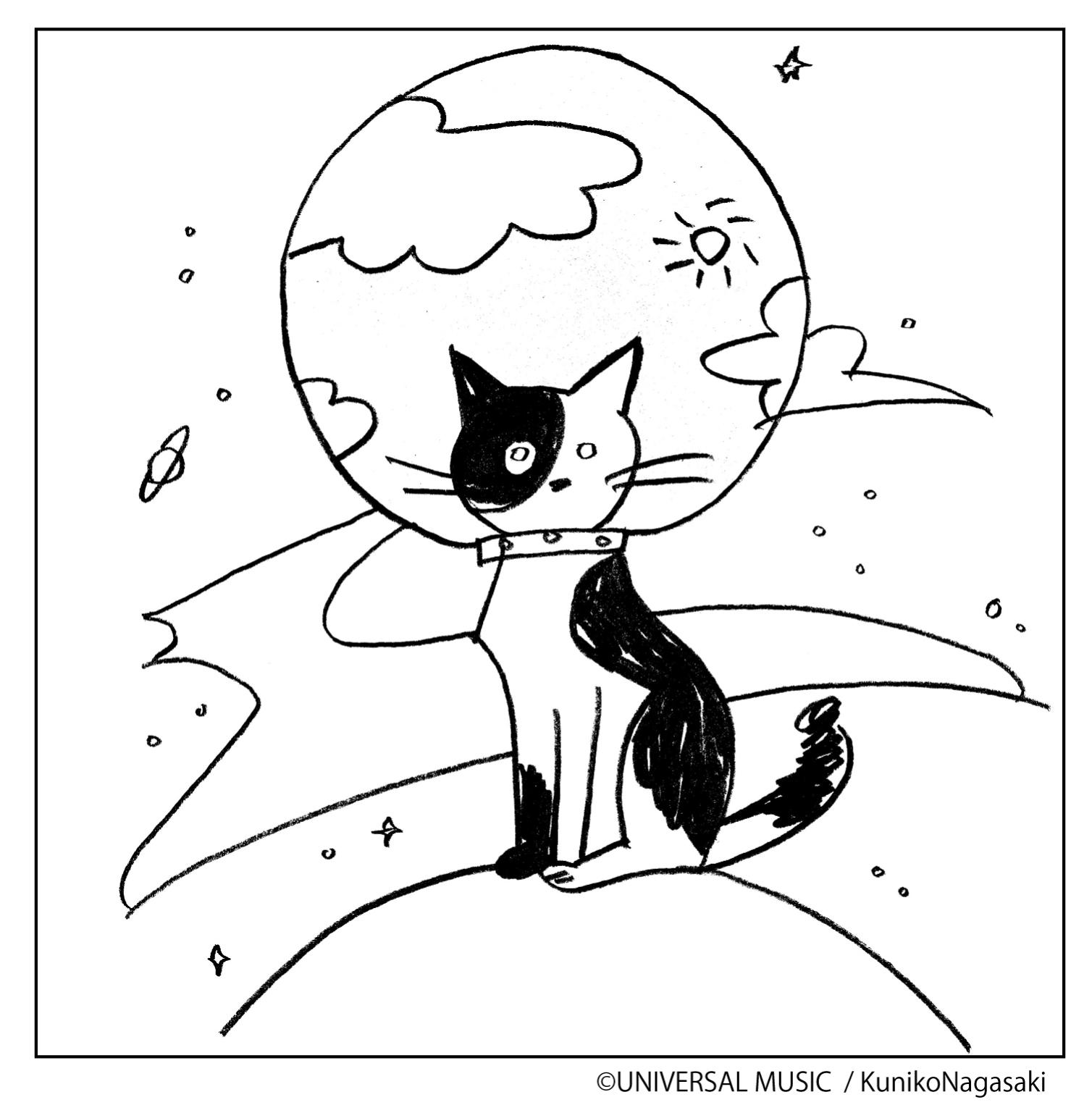 「猫ちぐら」夏休みぬりえキャンペーン - スピッツ
