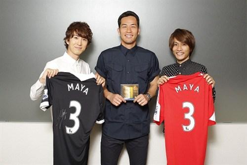 吉田麻也選手×USAGI(左:上田和寛、右:杉山勝彦)①KKK3534